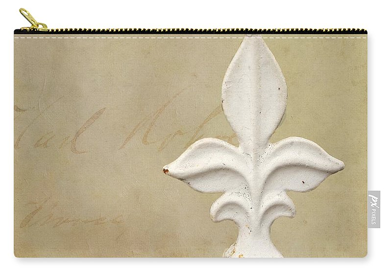 Fleur De Lis Carry-all Pouch featuring the photograph Letters From France by Terry Fleckney