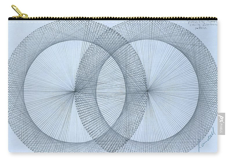 Fractal Carry-all Pouch featuring the drawing Magnetism by Jason Padgett