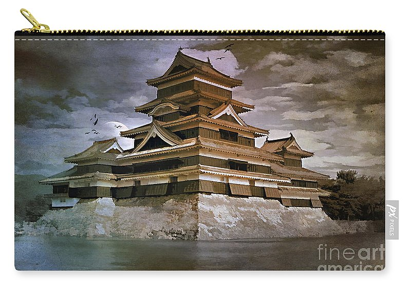 Matsumoto Carry-all Pouch featuring the painting Matsumoto Castle by Andrzej Szczerski