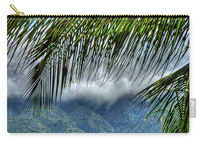 Landscape Carry-all Pouch featuring the photograph Maui Foot Hills by Arthur Fix