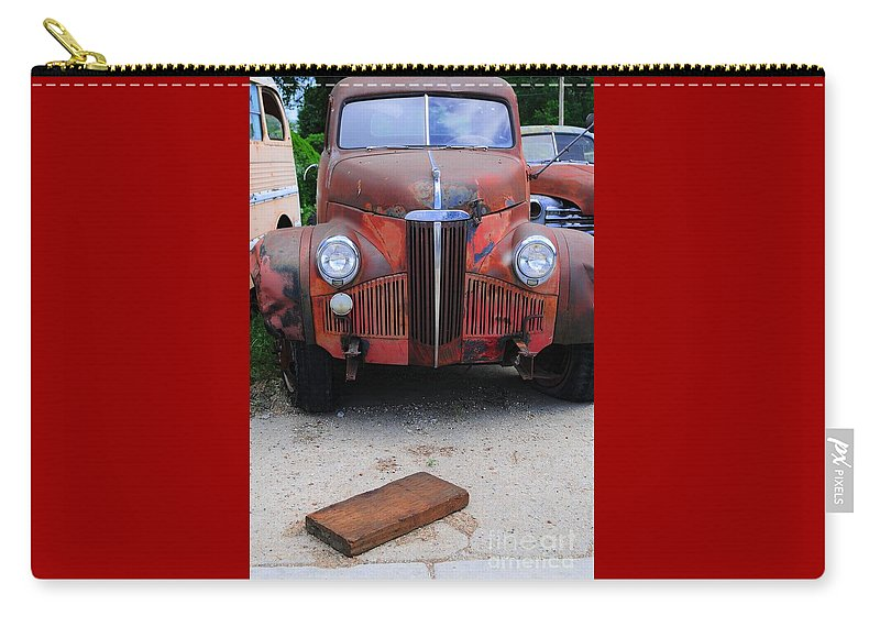 Old Carry-all Pouch featuring the photograph Old Old Car by Kathleen Struckle