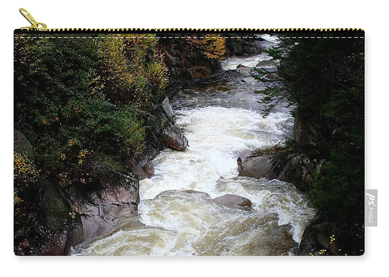 Franconia Notch Carry-all Pouch featuring the photograph Pemigewasset River White Mountains by Christiane Schulze Art And Photography