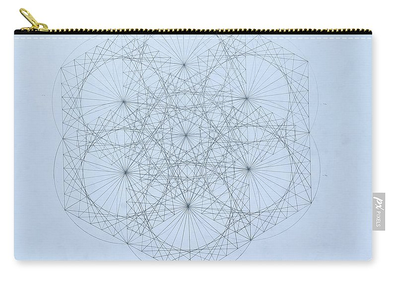 Jason Padgett Carry-all Pouch featuring the drawing Quantum Snowflake by Jason Padgett