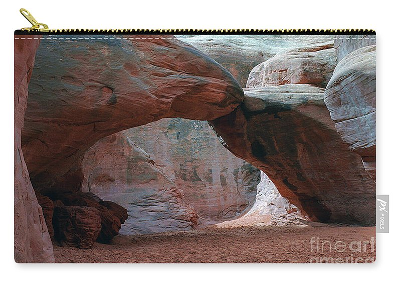 Sand Dune Arch Carry-all Pouch featuring the photograph Sand Dune Arch - Arches National Park by Yefim Bam