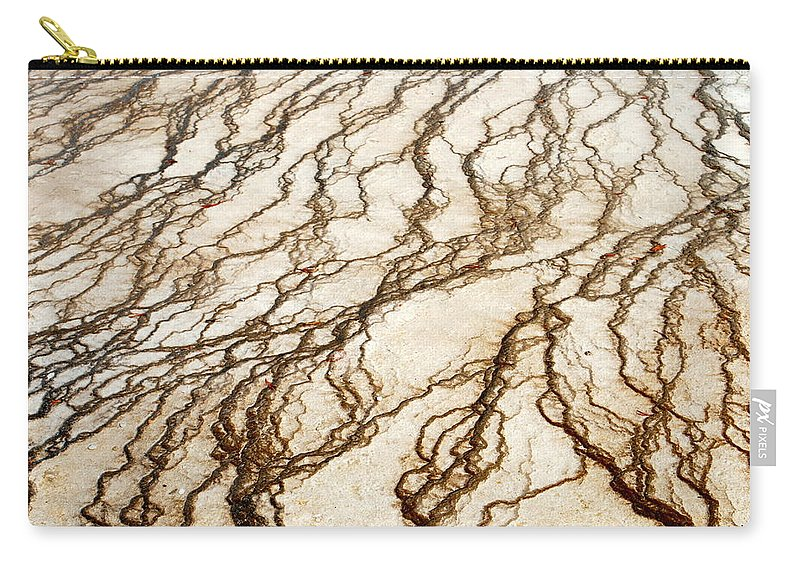 Yellowstone Carry-all Pouch featuring the digital art Spring Runoff by Kathy Sampson