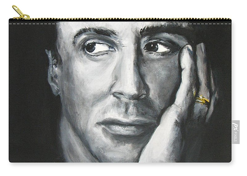 Copland Carry-all Pouch featuring the painting Sylvester Stallone by Eric Dee