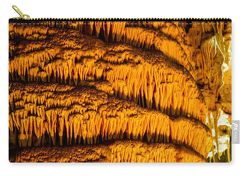 Carlsbad Caverns Carry-all Pouch featuring the photograph Temple Of The Sun Detail by Tracy Knauer