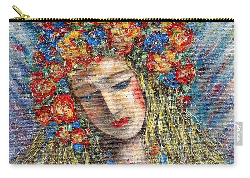 Painting Carry-all Pouch featuring the painting The Loving Angel by Natalie Holland