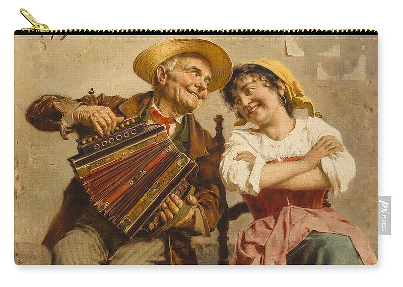 Accordion Carry-all Pouch featuring the painting The Serenade by Eugenio Zampighi
