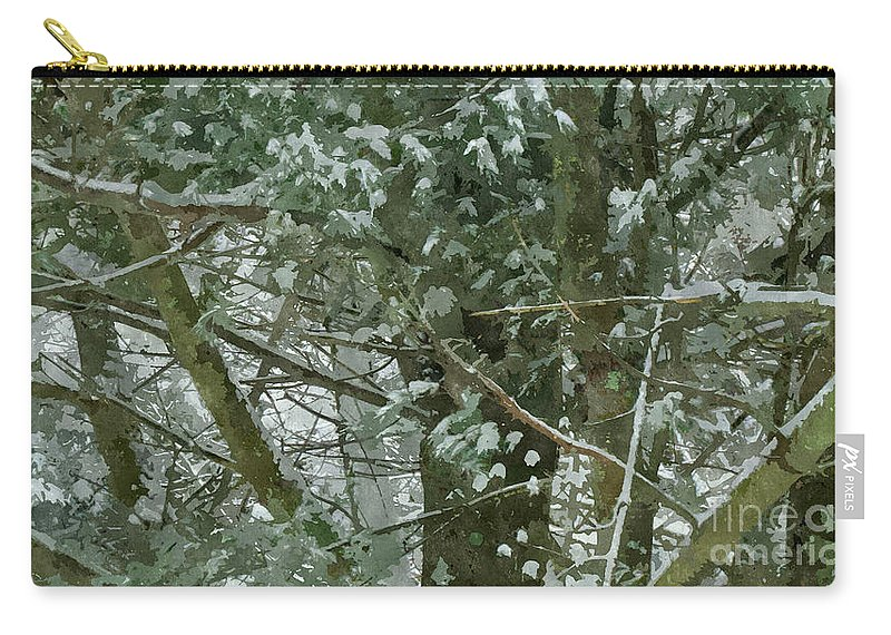 Abstract Carry-all Pouch featuring the painting Tree Branch by Jeelan Clark