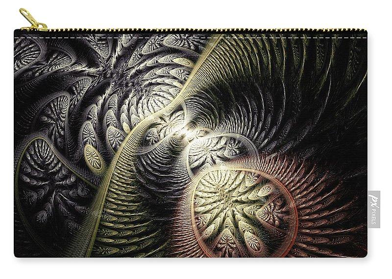 Malakhova Carry-all Pouch featuring the digital art Trilobite Trail by Anastasiya Malakhova