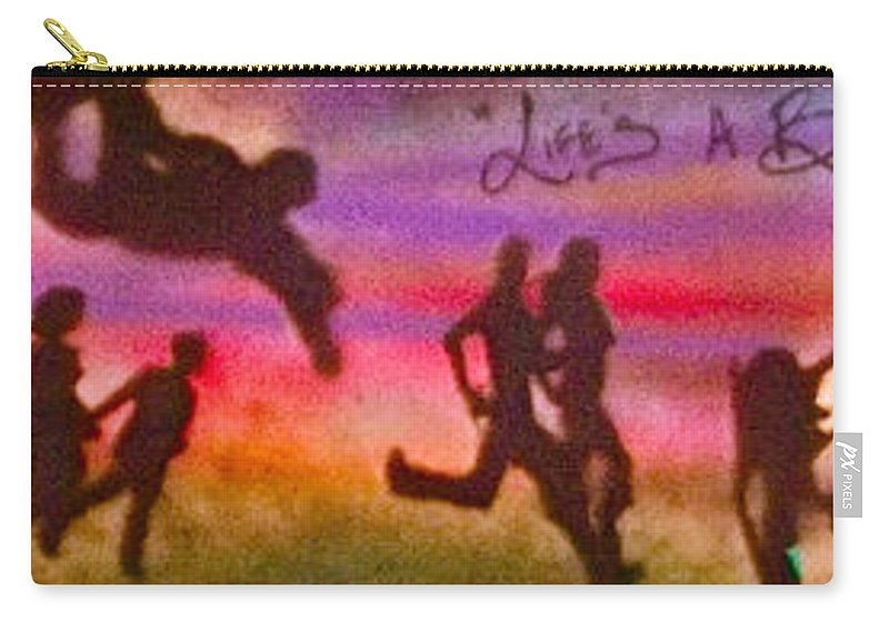 Graffiti Carry-all Pouch featuring the painting Venice Beach To Santa Monica by Tony B Conscious