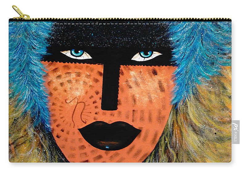 Woman Carry-all Pouch featuring the painting Viva Niva by Natalie Holland