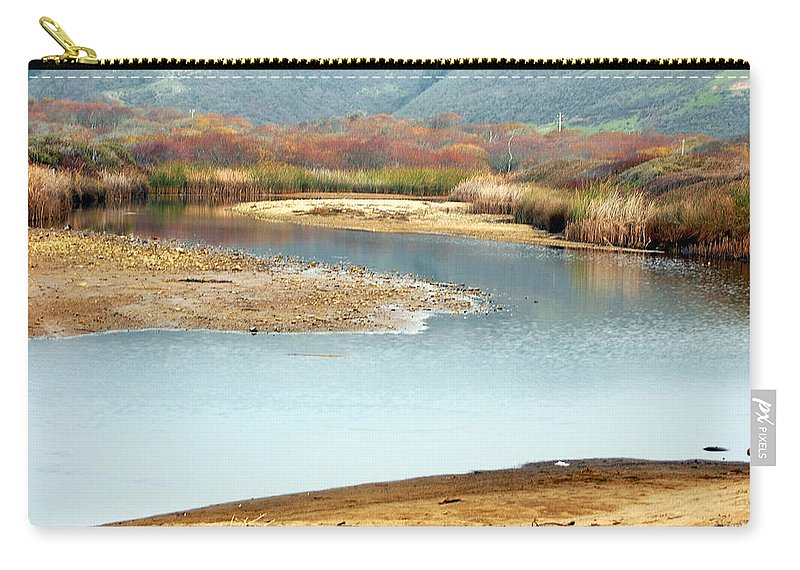 Scenic Carry-all Pouch featuring the photograph Wetlands Of Scott Creek by AJ Schibig