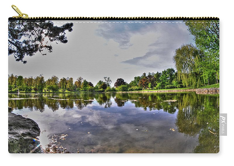 Forest Lawn Carry-all Pouch featuring the photograph 001 Reflecting At Forest Lawn by Michael Frank Jr