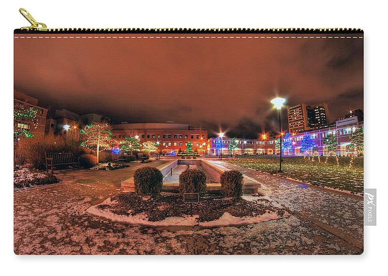 Carry-all Pouch featuring the photograph 0010 Christmas Light Show At Roswell Series by Michael Frank Jr