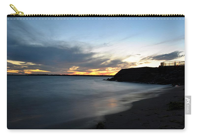 Sunset Carry-all Pouch featuring the photograph 0012 Awe In One Sunset Series At Erie Basin Marina by Michael Frank Jr