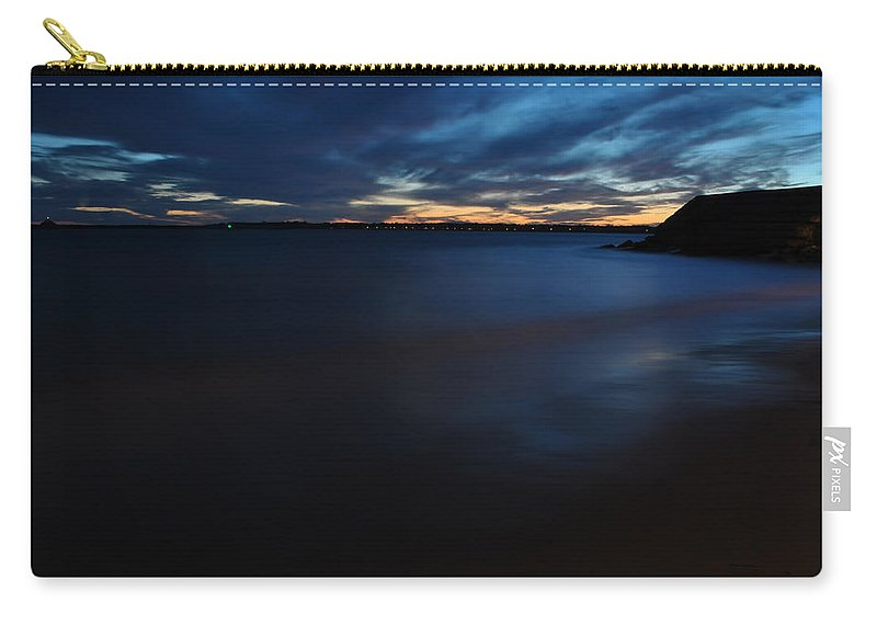 Sunset Carry-all Pouch featuring the photograph 0013 Awe In One Sunset Series At Erie Basin Marina by Michael Frank Jr