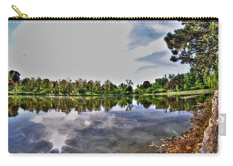 Forest Lawn Carry-all Pouch featuring the photograph 002 Reflecting At Forest Lawn by Michael Frank Jr