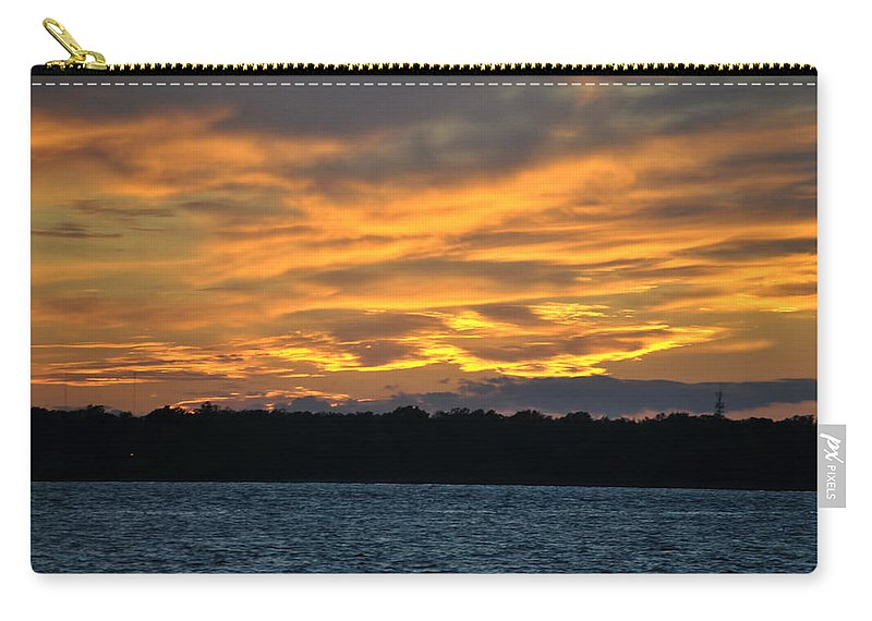 Sunset Carry-all Pouch featuring the photograph 003 Awe In One Sunset Series At Erie Basin Marina by Michael Frank Jr