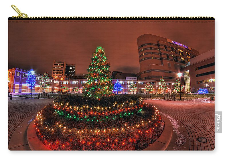 Carry-all Pouch featuring the photograph 004 Christmas Light Show At Roswell Series by Michael Frank Jr