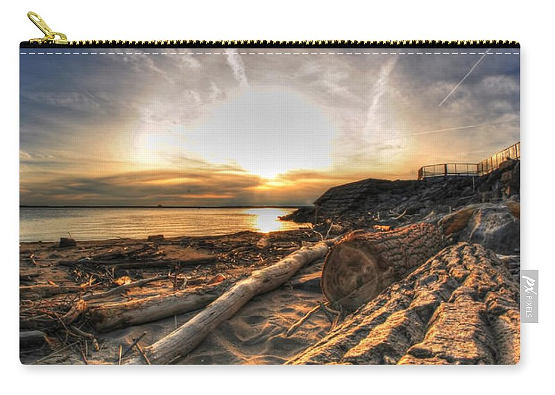 Water Carry-all Pouch featuring the photograph 005 After The Ice Melts Erie Basin Marina Series by Michael Frank Jr