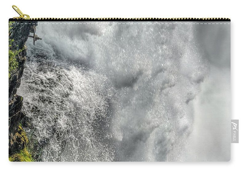 Niagara Falls Carry-all Pouch featuring the photograph 005 Niagara Falls Misty Blue Series by Michael Frank Jr