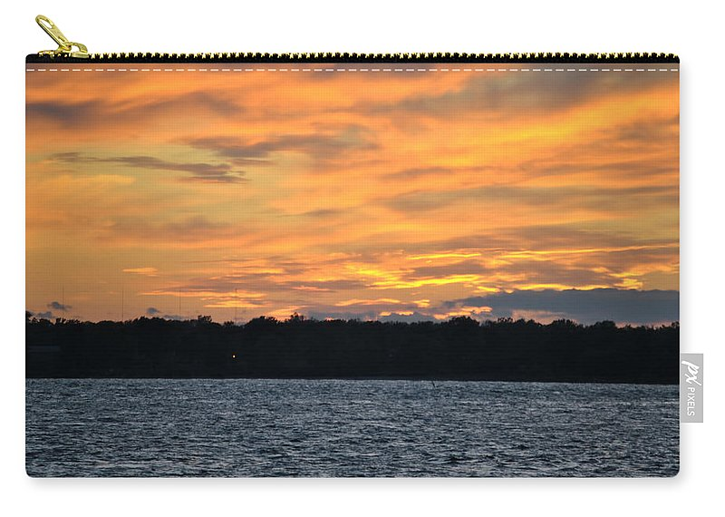 Sunset Carry-all Pouch featuring the photograph 006 Awe In One Sunset Series At Erie Basin Marina by Michael Frank Jr