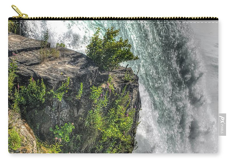 Niagara Falls Carry-all Pouch featuring the photograph 006 Niagara Falls Misty Blue Series by Michael Frank Jr