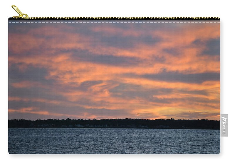 Sunset Carry-all Pouch featuring the photograph 007 Awe In One Sunset Series At Erie Basin Marina by Michael Frank Jr