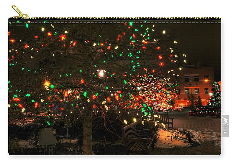 Carry-all Pouch featuring the photograph 007 Christmas Light Show At Roswell Series by Michael Frank Jr