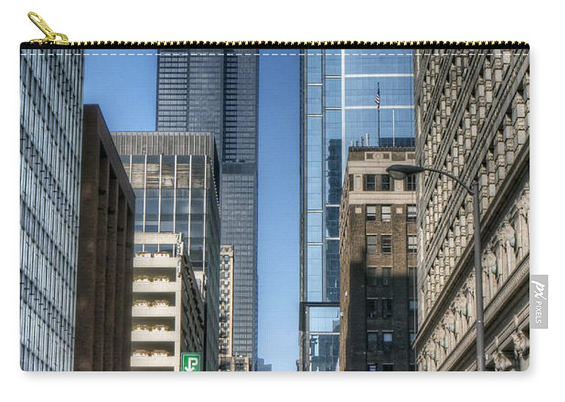 Willis Carry-all Pouch featuring the photograph 0078 Willis Tower Chicago by Steve Sturgill