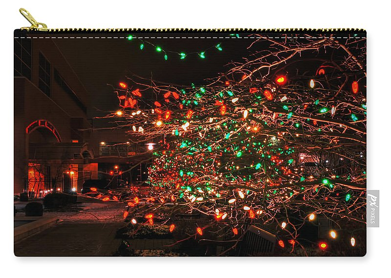 Carry-all Pouch featuring the photograph 008 Christmas Light Show At Roswell Series by Michael Frank Jr