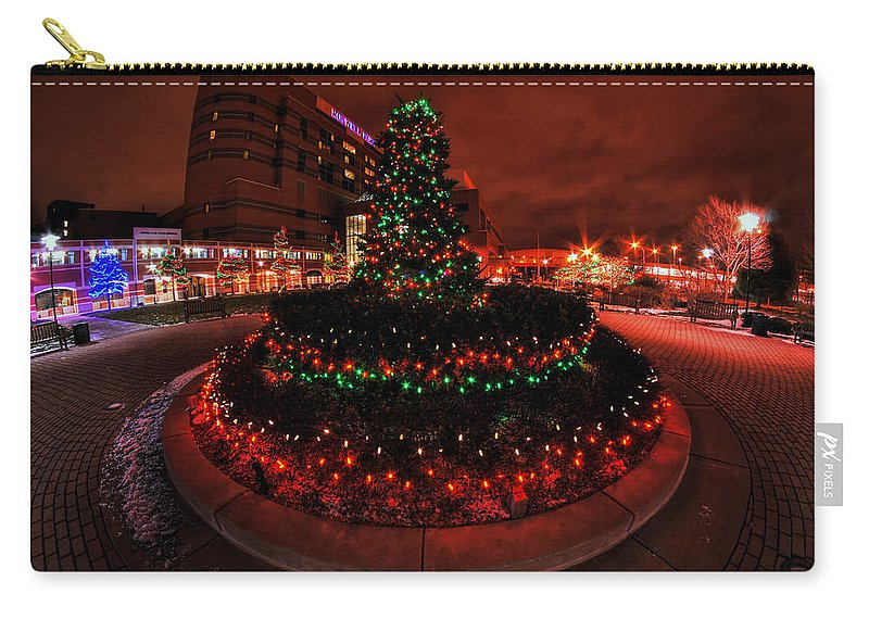 Carry-all Pouch featuring the photograph 009 Christmas Light Show At Roswell Series by Michael Frank Jr