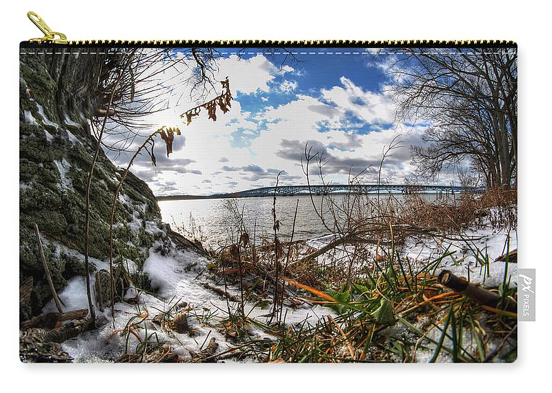 Carry-all Pouch featuring the photograph 009 Grand Island Bridge Series by Michael Frank Jr