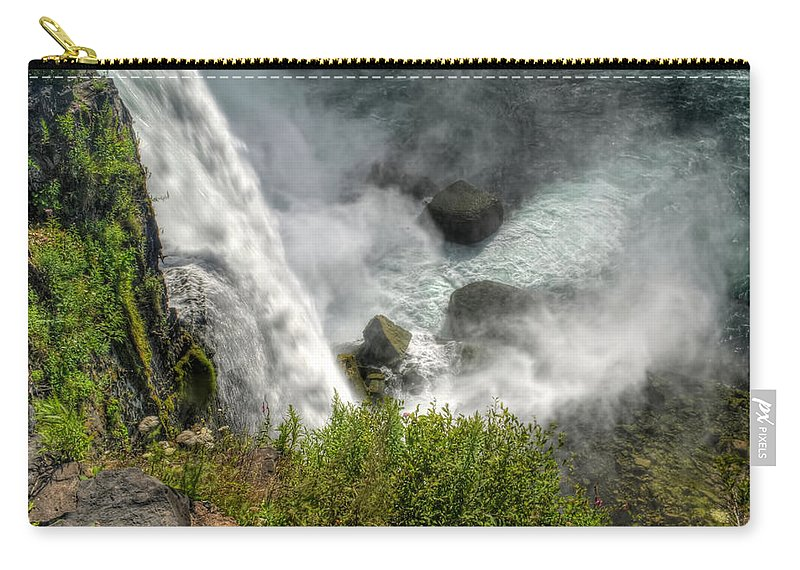 Niagara Falls Carry-all Pouch featuring the photograph 009 Niagara Falls Misty Blue Series by Michael Frank Jr