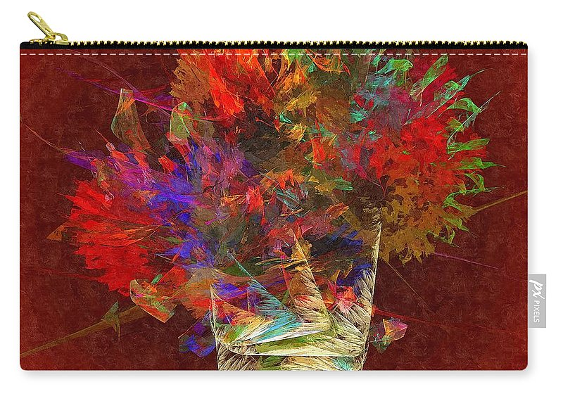 Flowers Carry-all Pouch featuring the digital art Flowers 010 - Marucii by Marek Lutek
