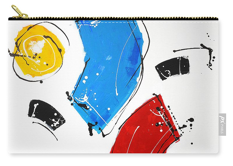 Abstract Carry-all Pouch featuring the painting 010222 by Toshio Sugawara