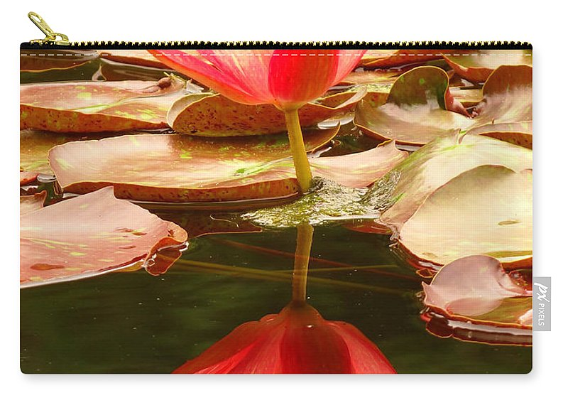 Pink Carry-all Pouch featuring the photograph 0116 by Onyx Armstrong