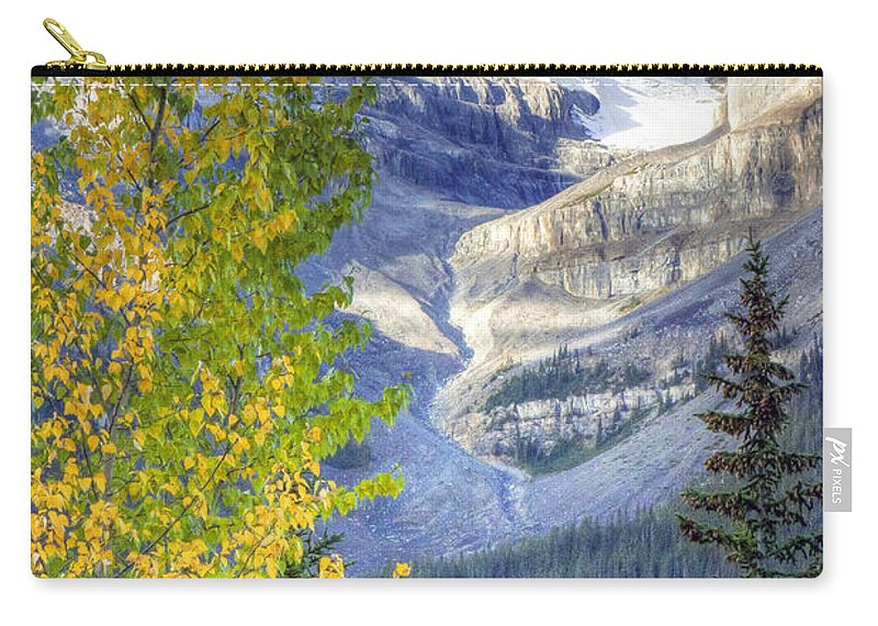 Larch Carry-all Pouch featuring the photograph 0141 Fall Colors On Icefield Parkway by Steve Sturgill