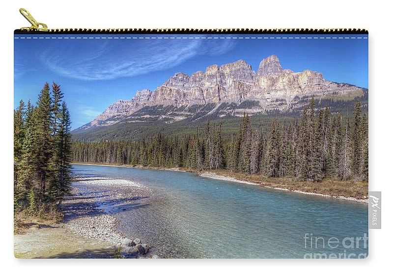 Castle Carry-all Pouch featuring the photograph 0149 Castle Mountain by Steve Sturgill