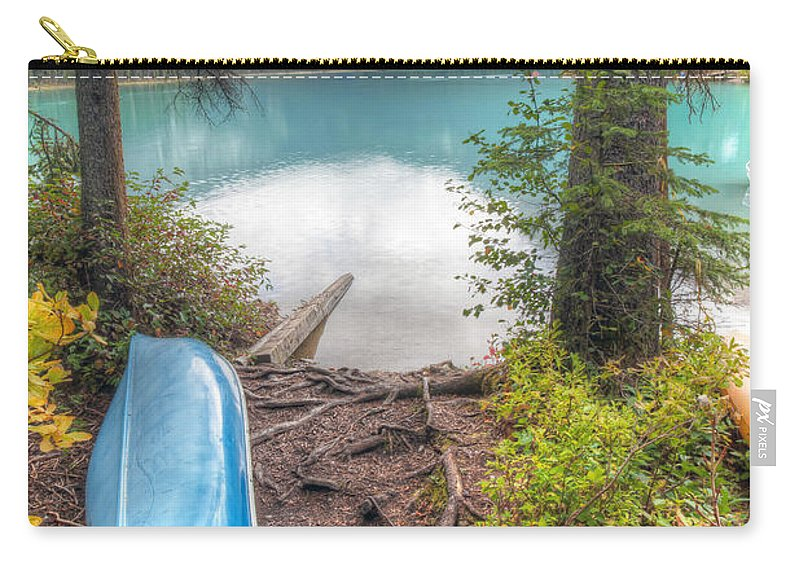 Emerald Carry-all Pouch featuring the photograph 0162 Emerald Lake by Steve Sturgill