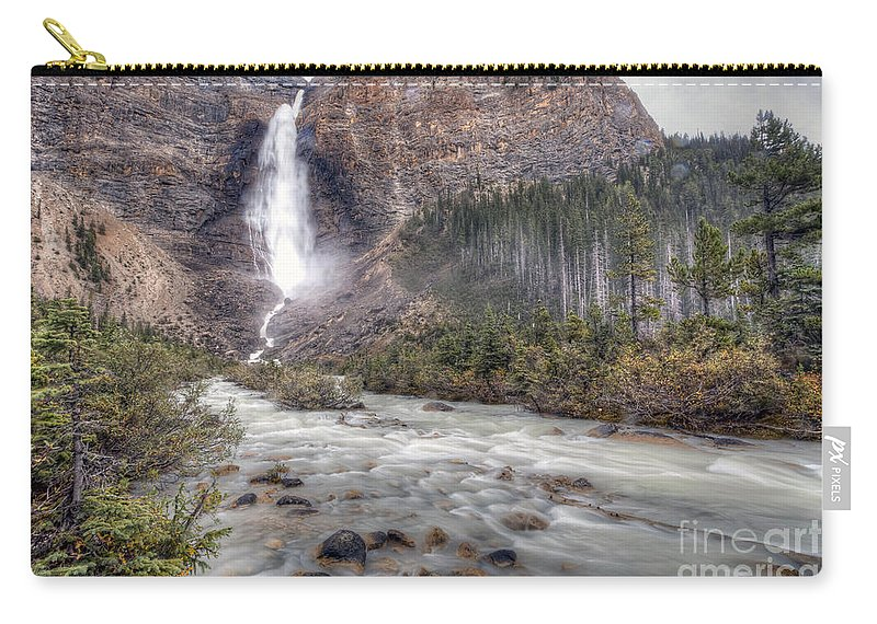 Takakkaw Carry-all Pouch featuring the photograph 0163 Takakkaw Falls by Steve Sturgill