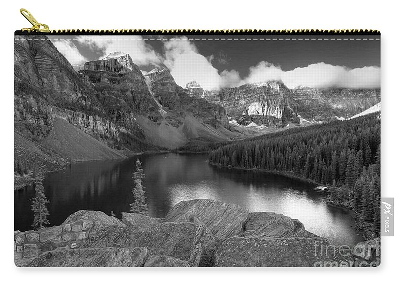 Moraine Carry-all Pouch featuring the photograph 0166 Moraine Lake by Steve Sturgill