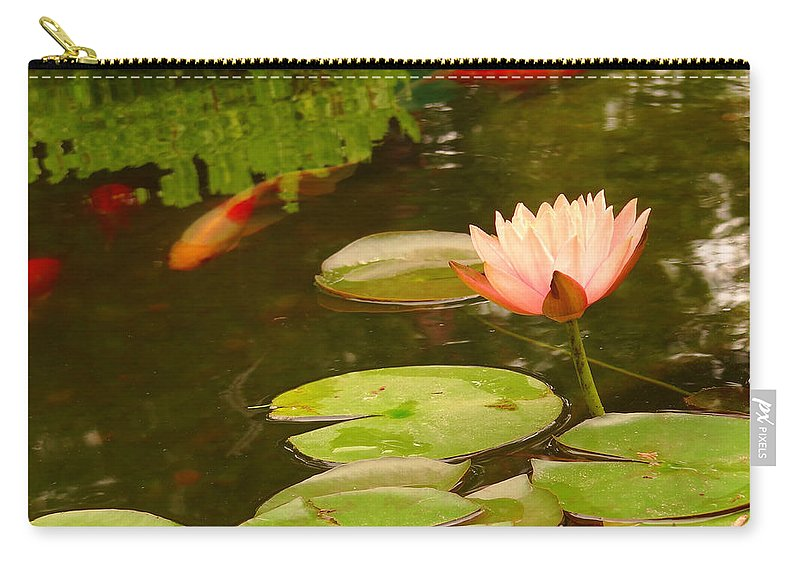 Pink Carry-all Pouch featuring the photograph 0174 by Onyx Armstrong