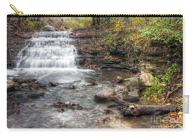 Water Carry-all Pouch featuring the photograph 0278 South Elgin Waterfall by Steve Sturgill