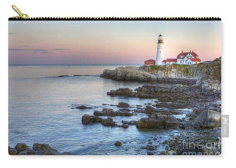 Portland Carry-all Pouch featuring the photograph 0312 Portland Head Lighthouse by Steve Sturgill