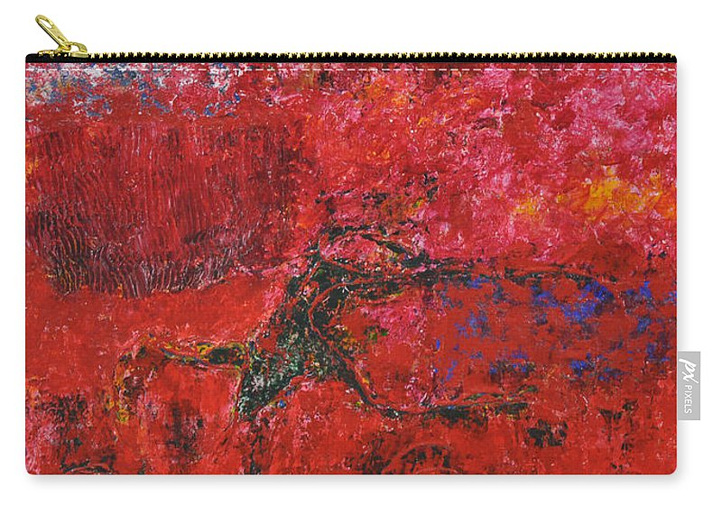 Abstract Carry-all Pouch featuring the painting 045 Abstract Thought by Chowdary V Arikatla