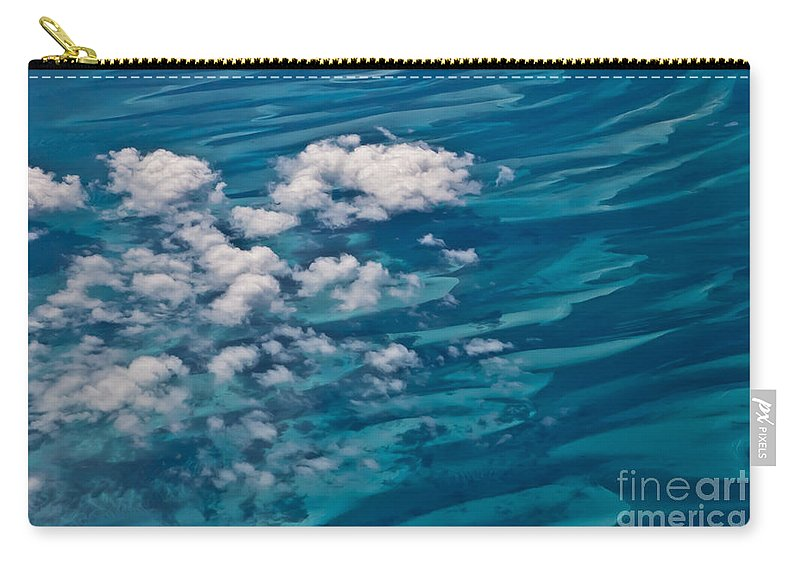 Arial Carry-all Pouch featuring the photograph 0458 Above The Caribbean by Steve Sturgill