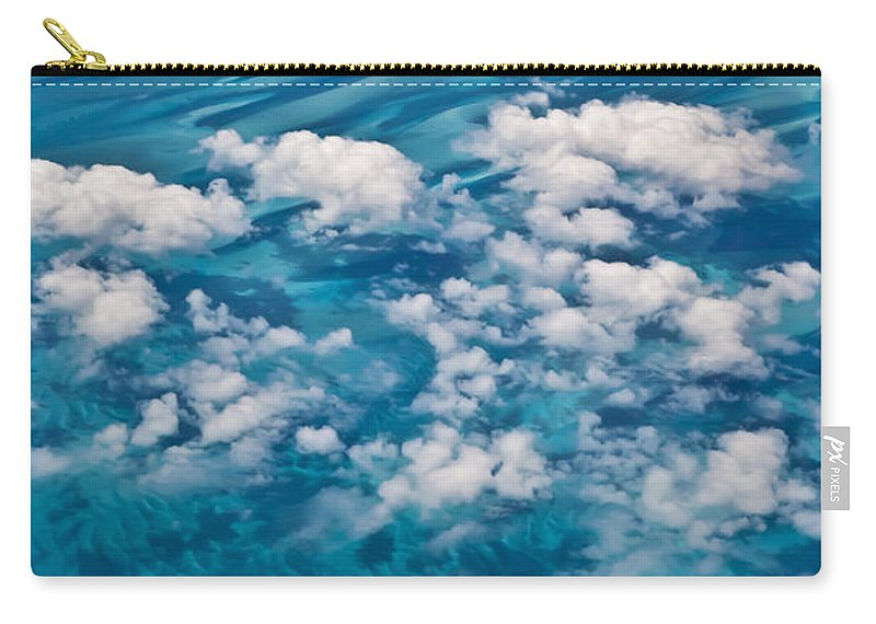 Arial Carry-all Pouch featuring the photograph 0459 Above The Caribbean by Steve Sturgill